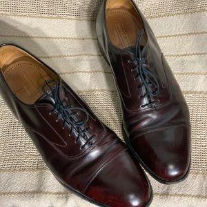 JOHNSTON & MURPHY Sz 10.5D Oxford  Brown Leather